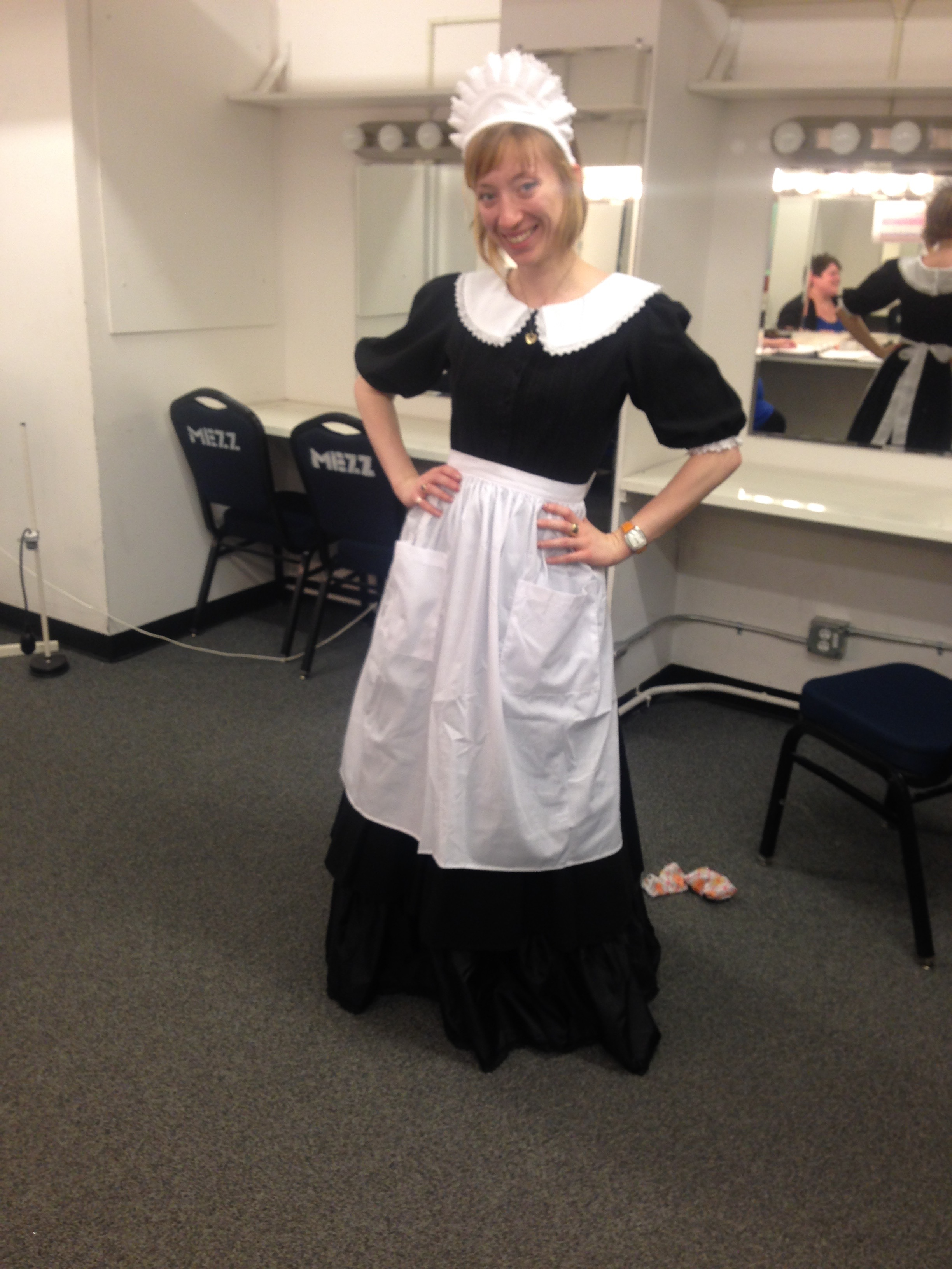 costume fitting for Odyssey Opera