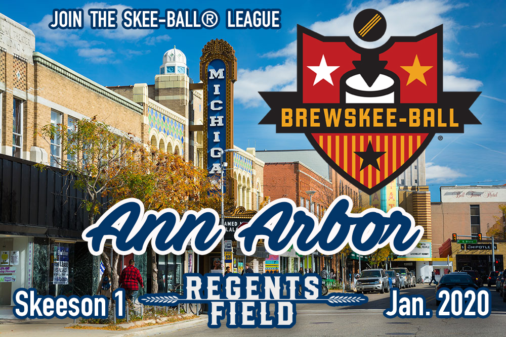 STAY TUNED FOR MORE REGENTS FIELD LEAGUE INFO | 204 S MAIN STREET | THREE ROLLERS ON A TEAM | EMAIL JOIN@BREWSKEEBALL.COM FOR DETAILS