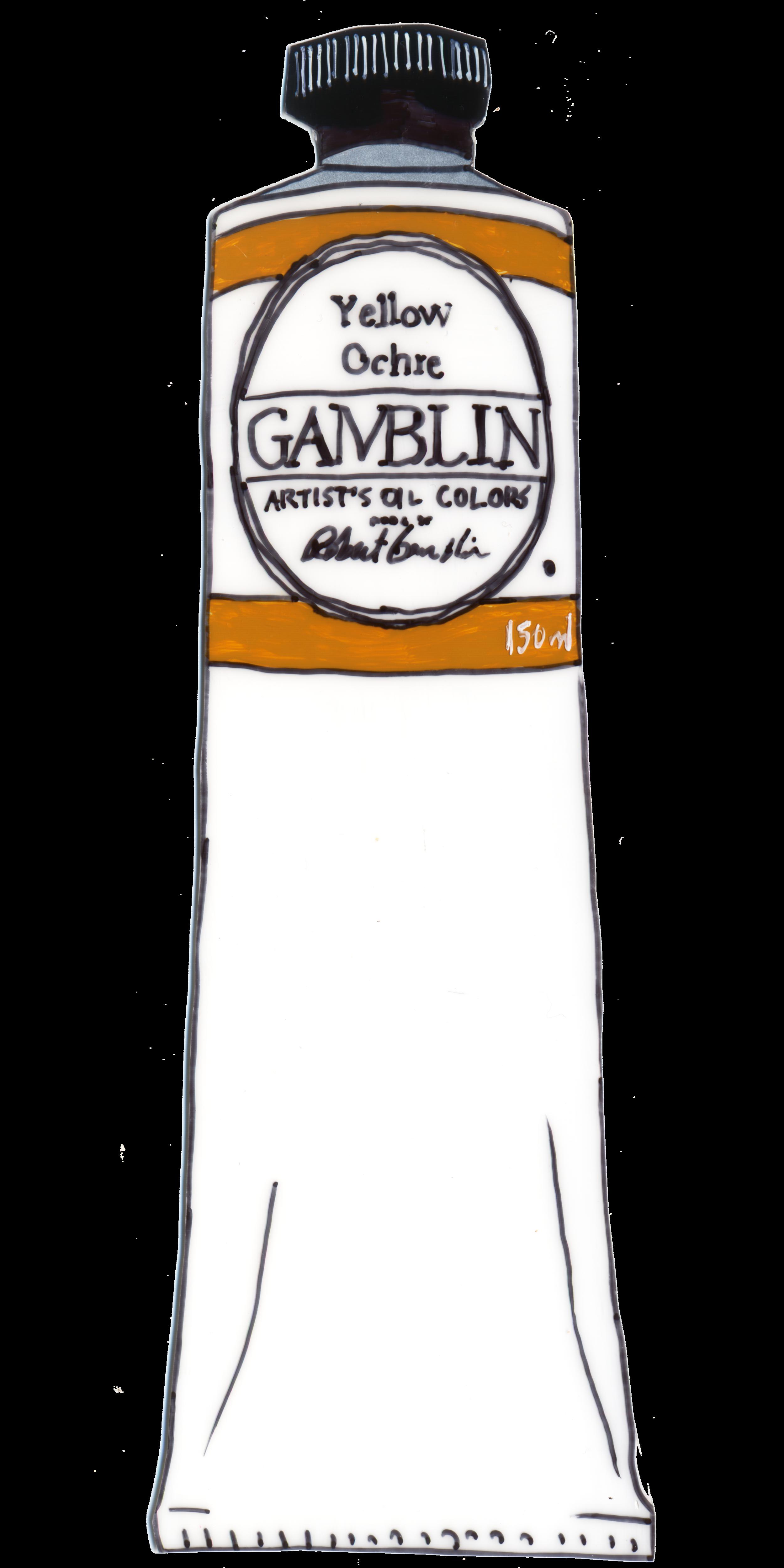 Gamblin Oil Paint - Yellow Ochre - 3700x7400.png