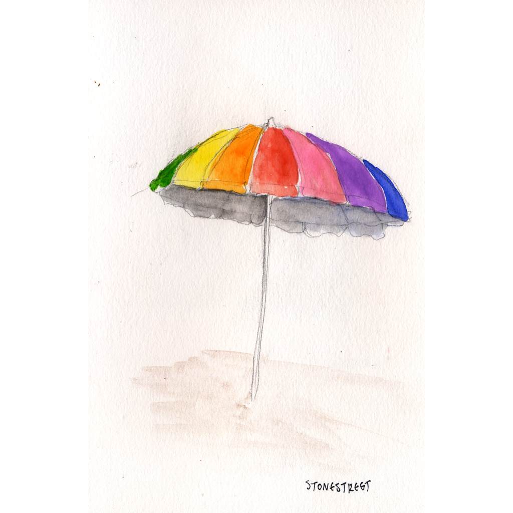 Everyday Objects - Rainbow Beach Umbrella - square.png
