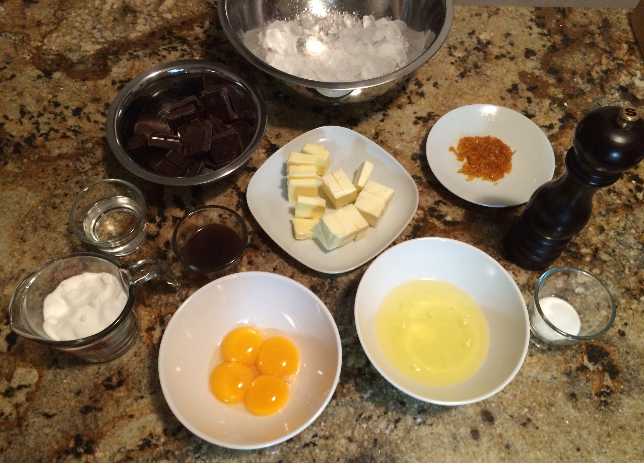 Don't drink the orange liqueur just yet, but save some for then the dessert is ready.