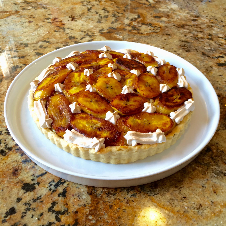 Sweet plantain tart
