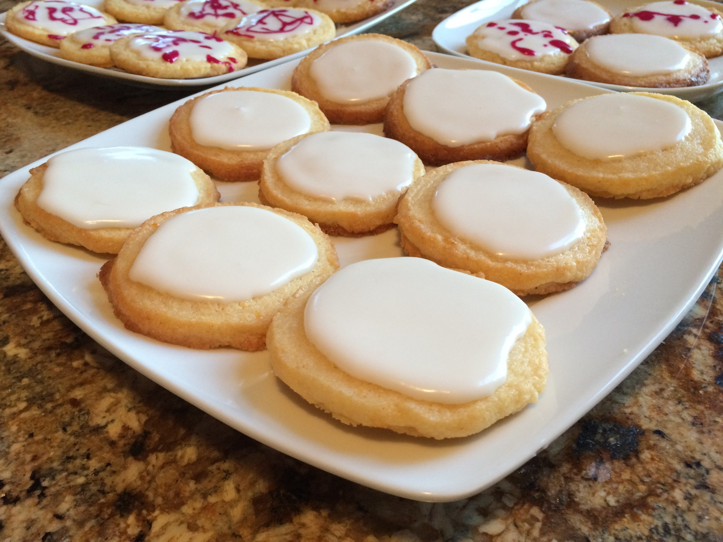 Lemon icebox cookies with glazing