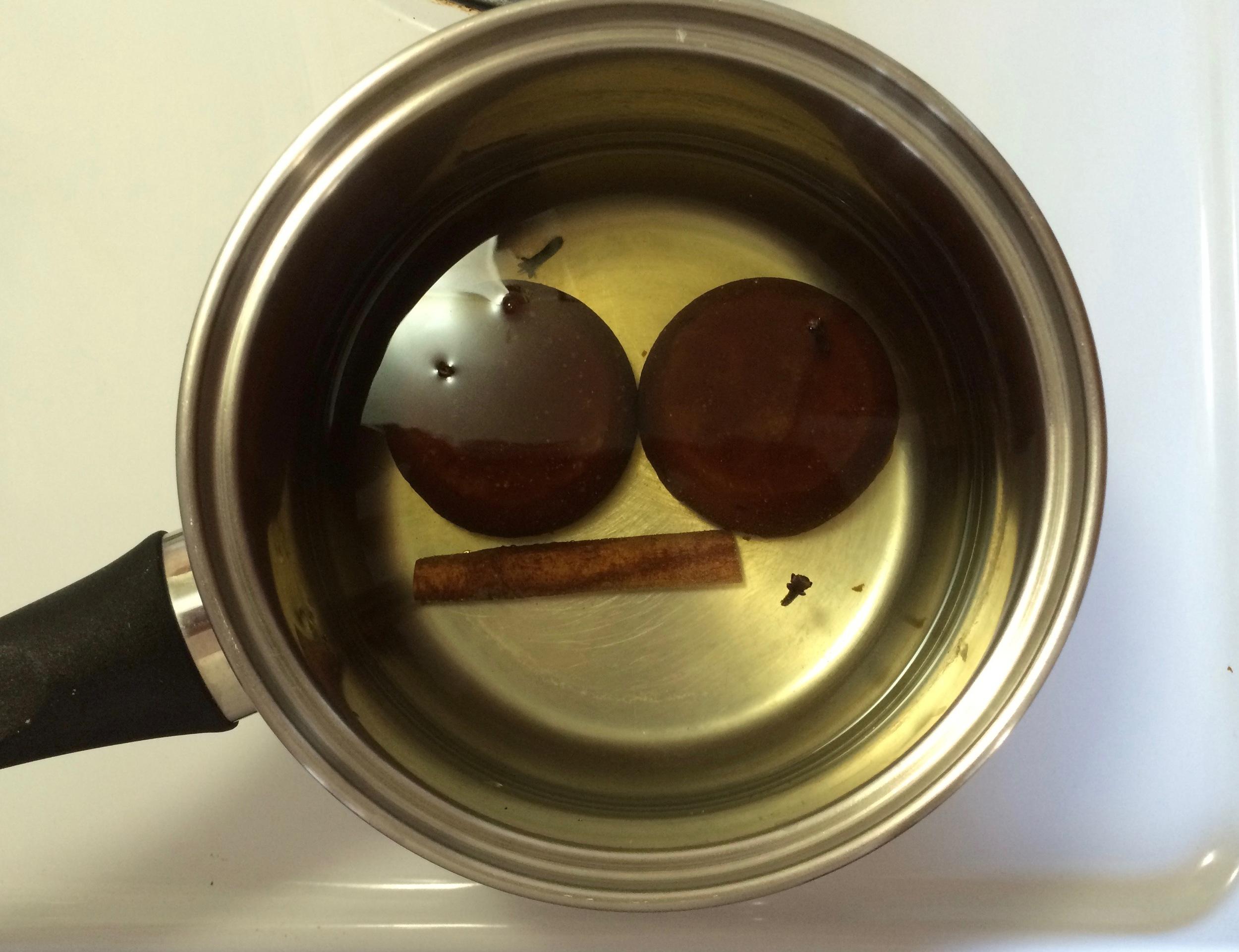 Preparing piloncillo syrup