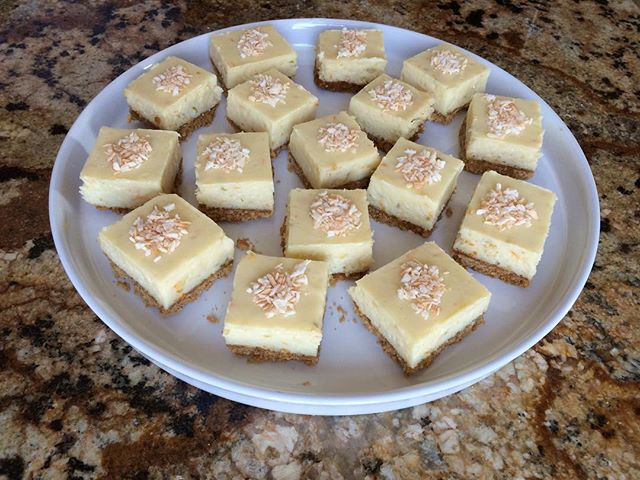 How about some delicious, tangy citrus bars for the weekend? Add a bit or toasted coconut on top and you have a great treat.