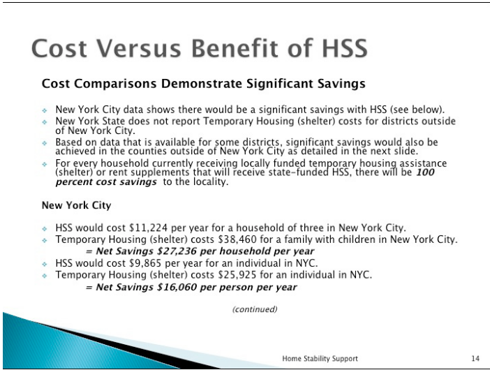 cost versus benefit of HSS