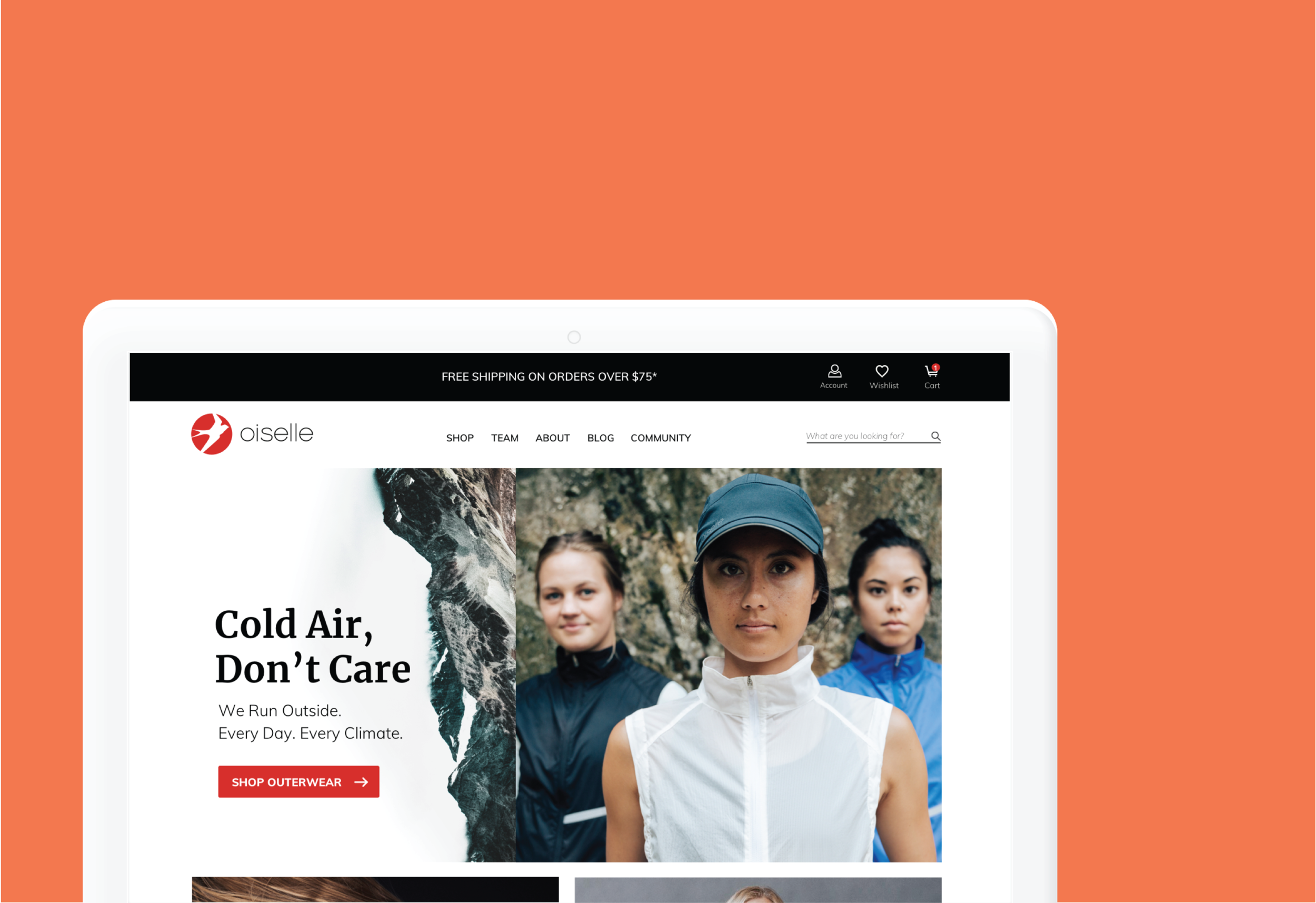 Oiselle  UI & Visual Design   view project