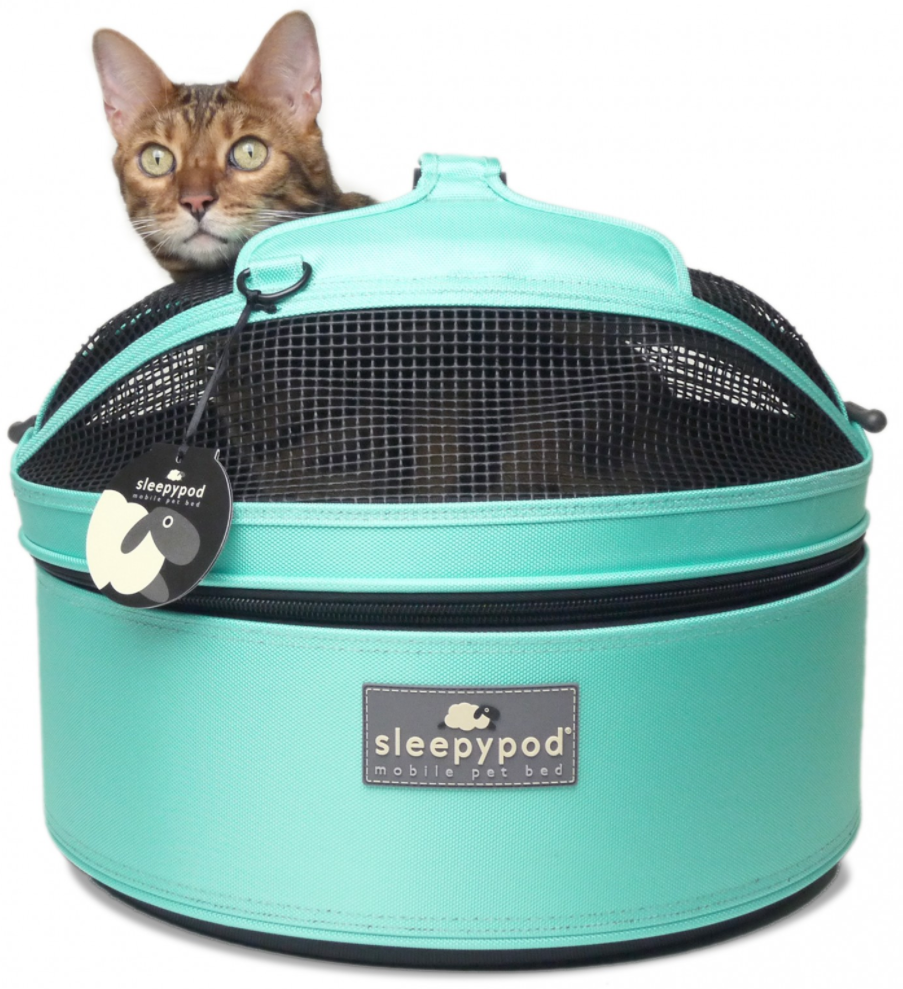 Sleepypod Mobile Pet Bed in Robin Egg Blue, $189.99