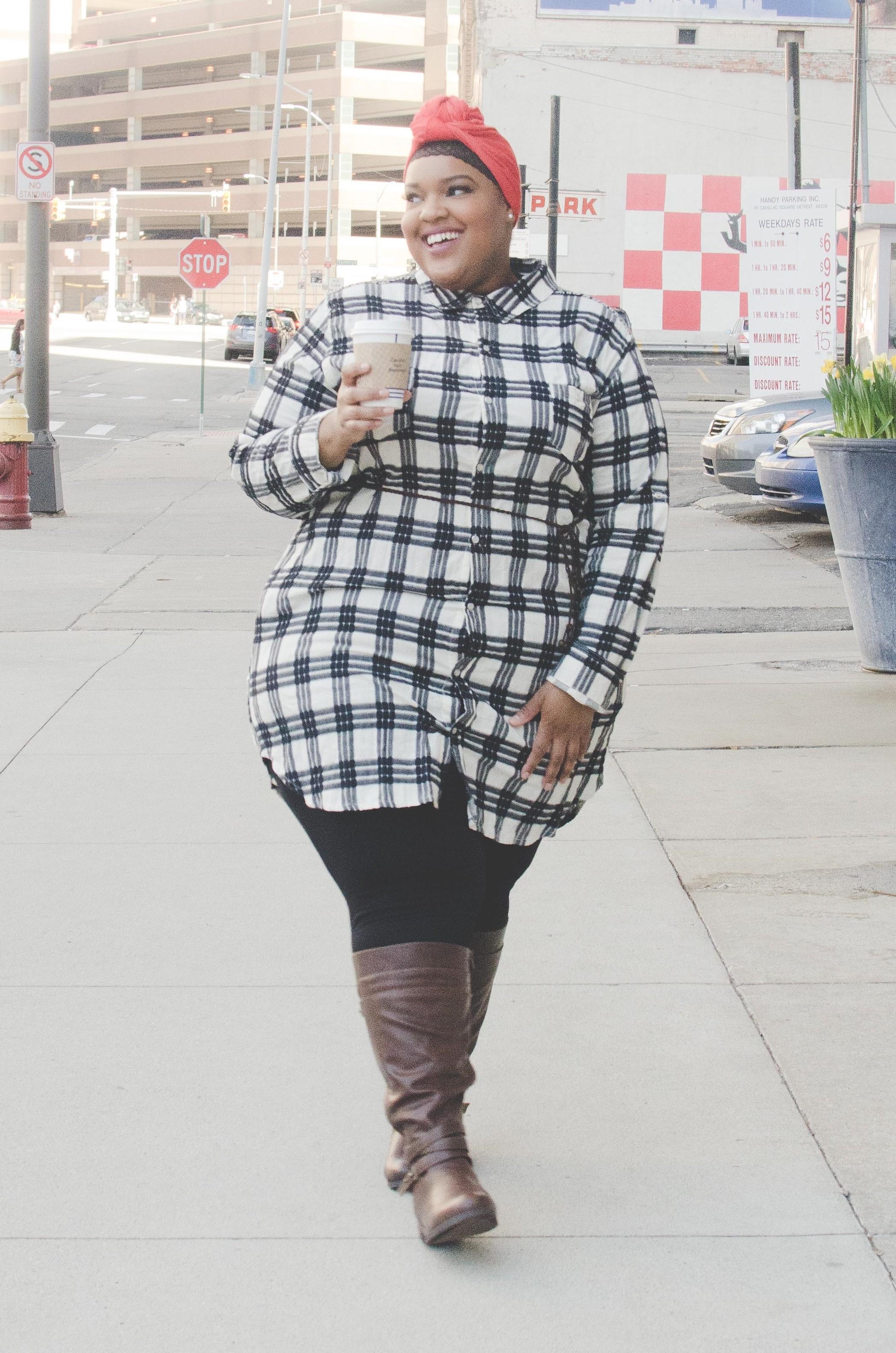 Photo:  Reel Clever Films  + MUA:  Madinah M . + Styling Asst: Holly H. + Model:  Leah V.  + Shirt:  Society+