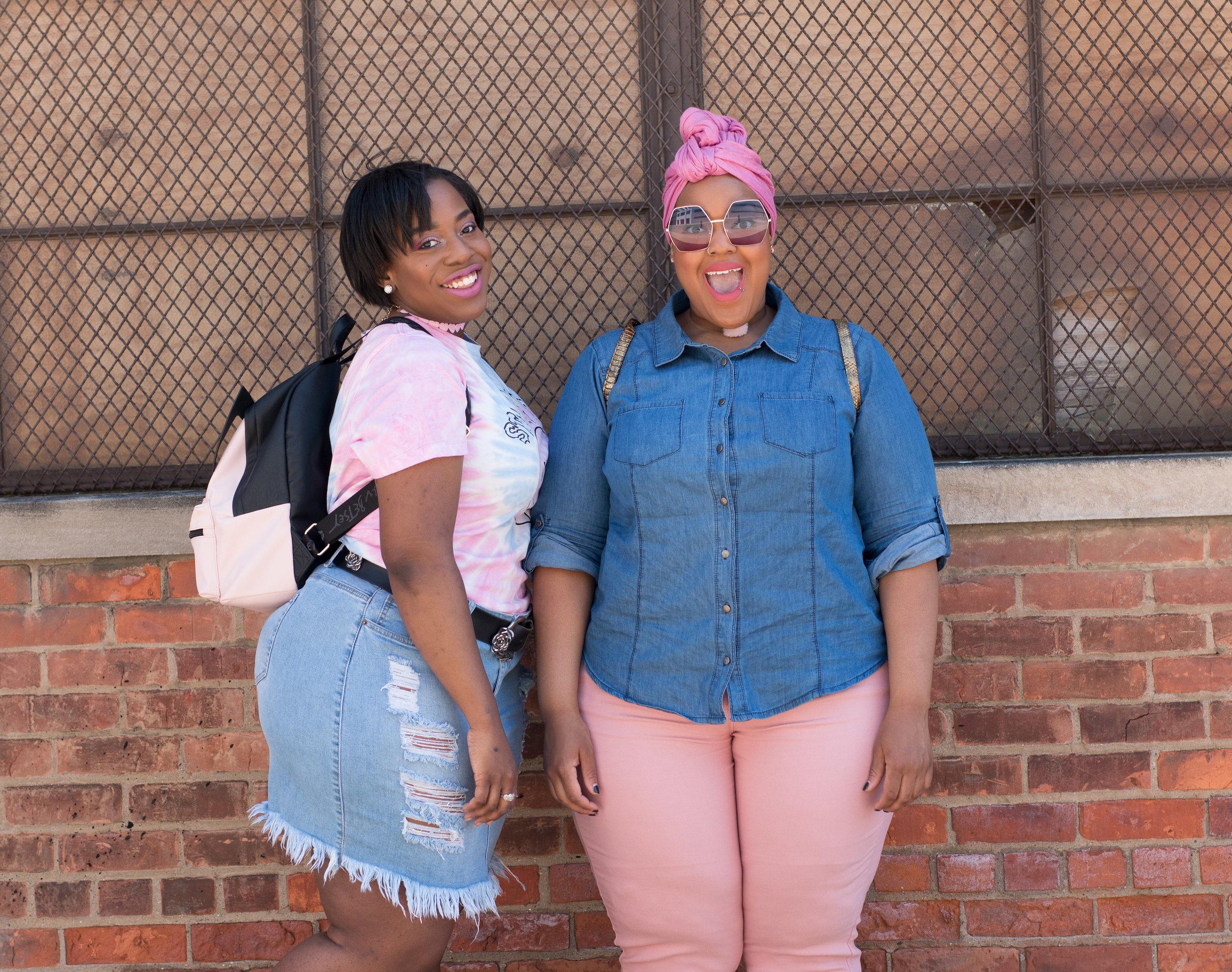 Models:  Fashionlayn  and  Leah V.