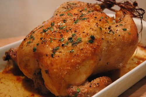 Chef Thomas Keller's roast chicken.