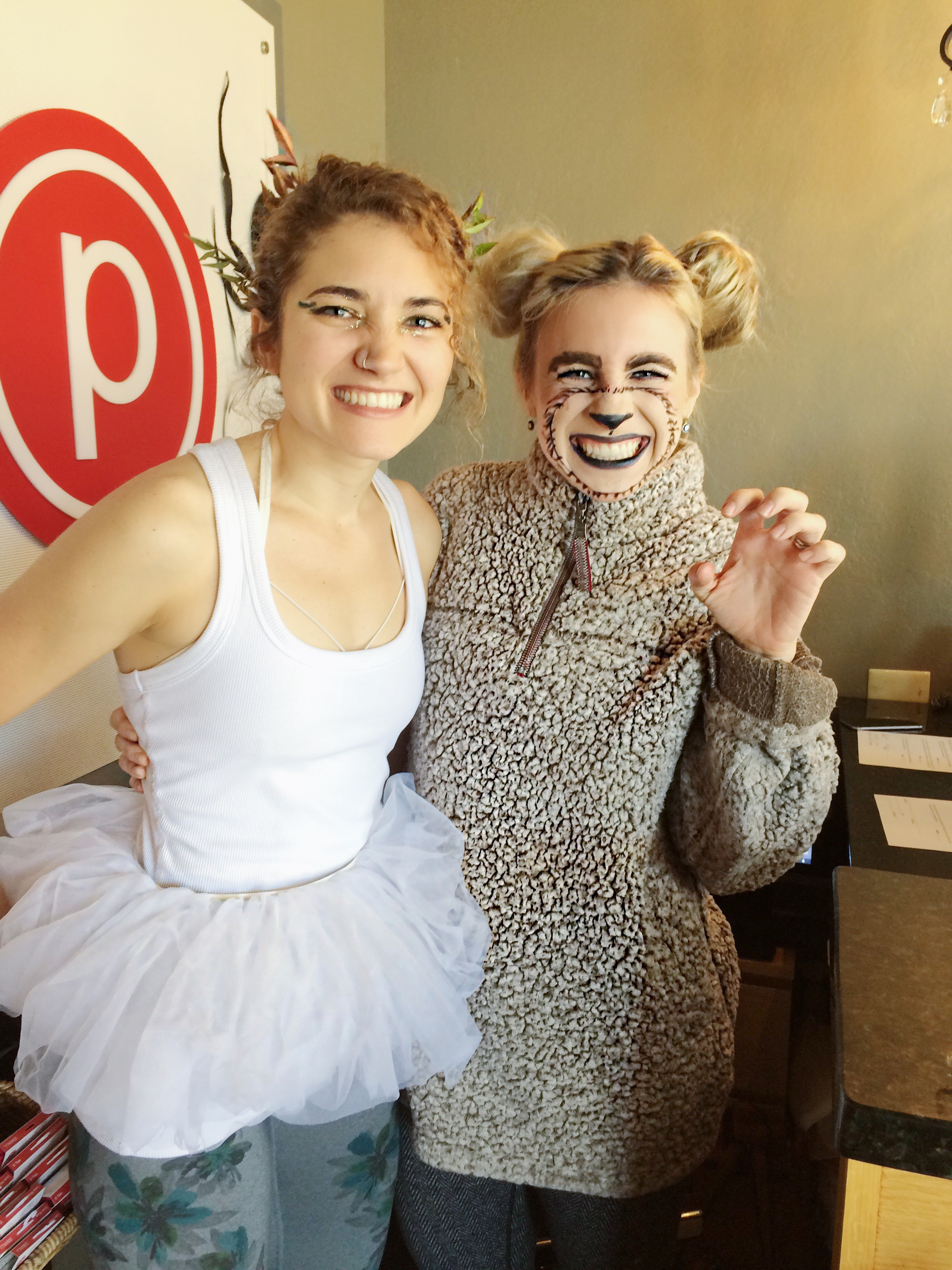 Fellow instructor Christina and me, also at Halloween last year!