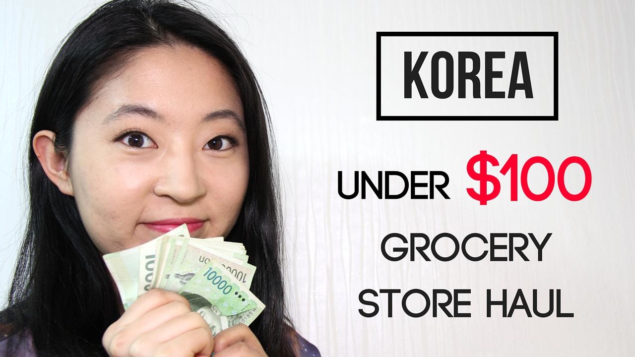 Korean grocery under $100