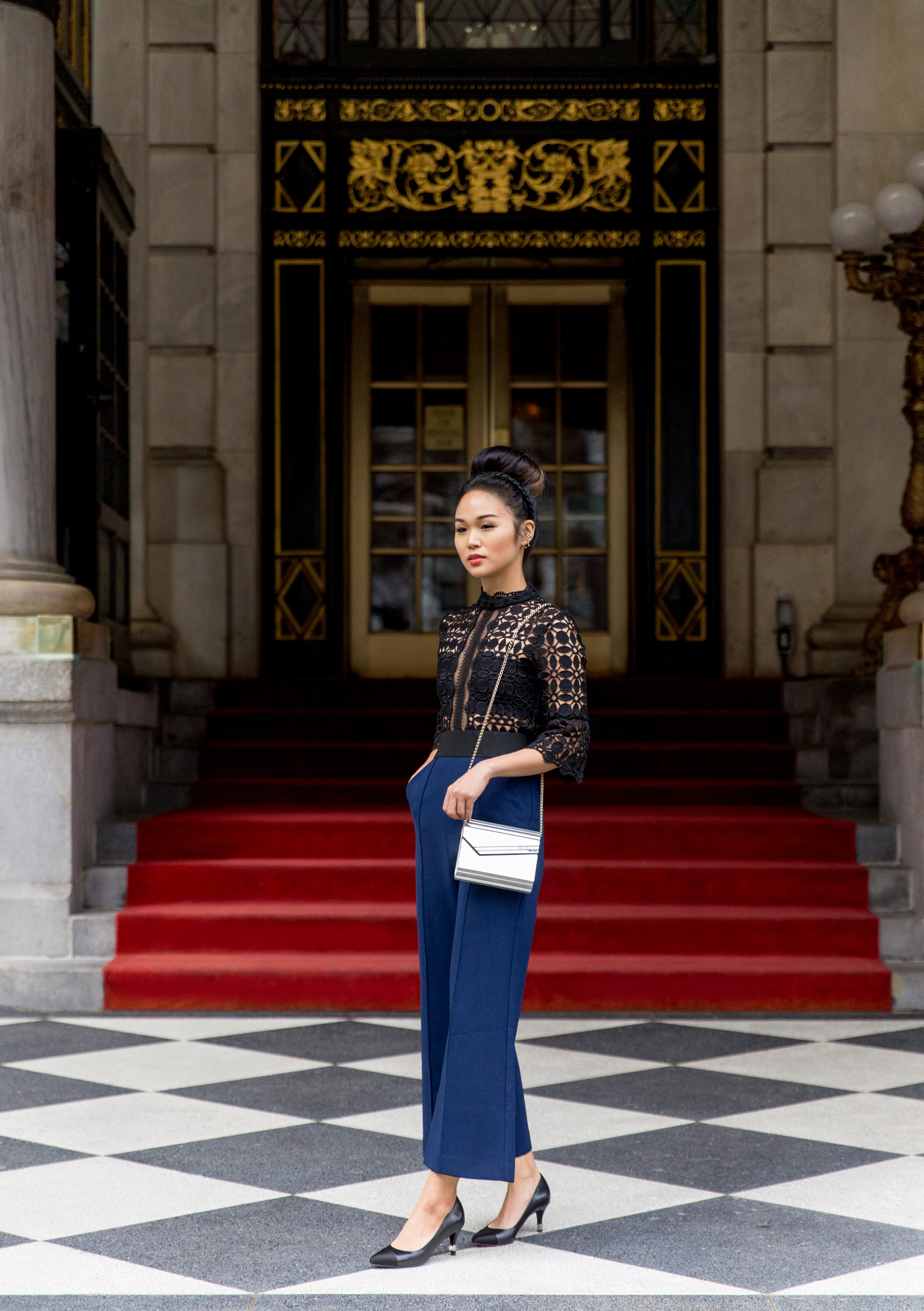 cocotrish patricia chang plaza hotel lace outfit