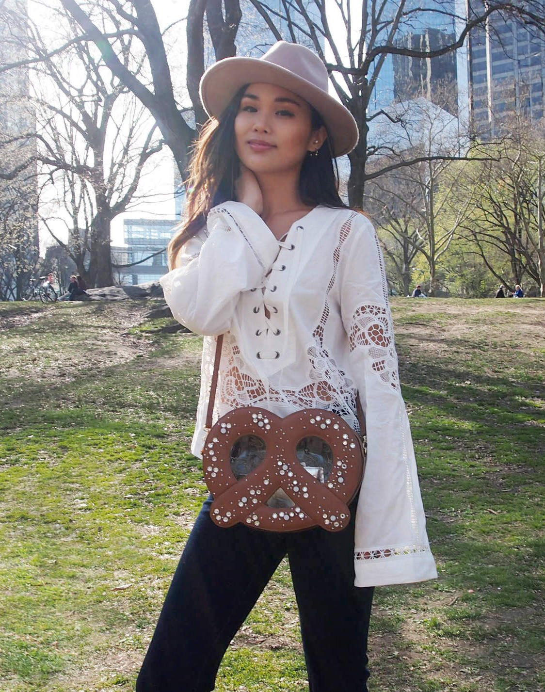 cocotrish patricia chang central park pretzel bag