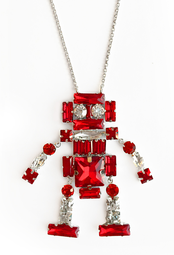 Patricia Chang Red Robot Necklace