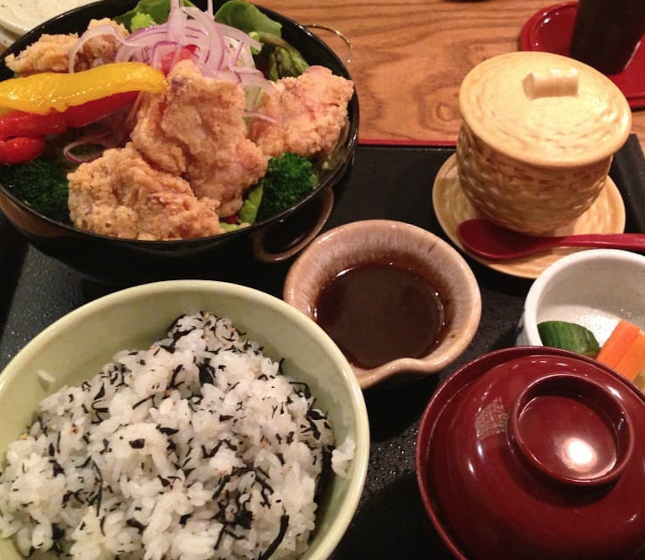 "Restaurant, ""Ootoya""  Japanese in Multiple Locations  Get: Kaasan Ni, Sushi Bowls and Soba"