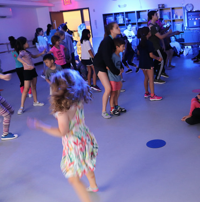 Chase was in the 3-5 year old class. Dance parties with other age groups, as well as practicing for numbers together.