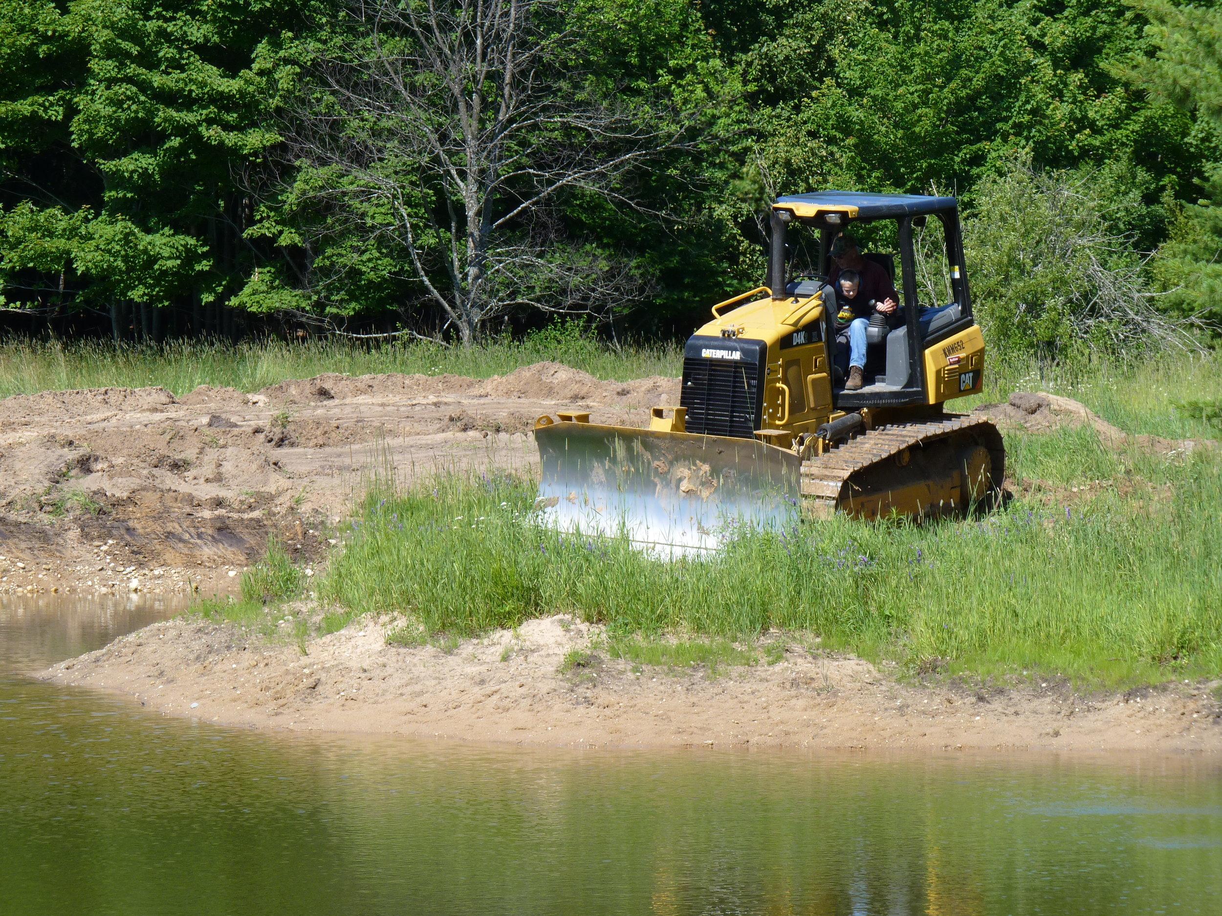 Northport Pond Construction