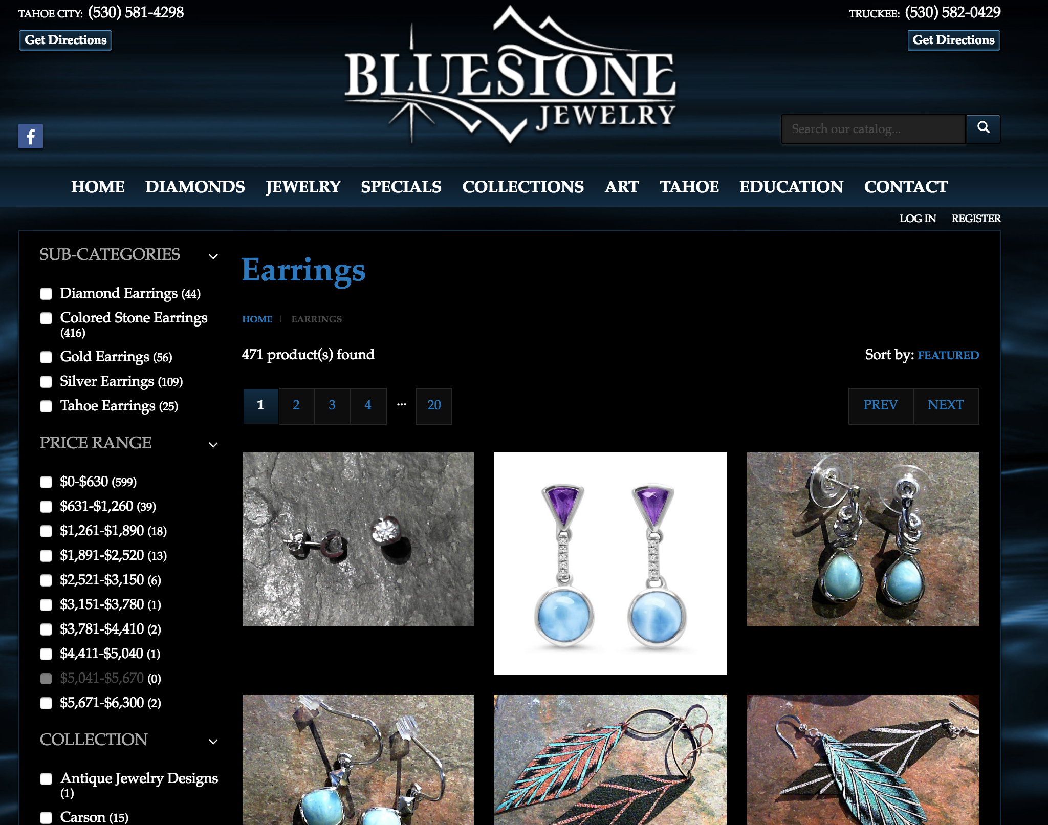 Bluestone Jewelry at both locations 495 N. Lake Blvd, Tahoe City & 10046 Donner Pass Rd, Truckee, CA