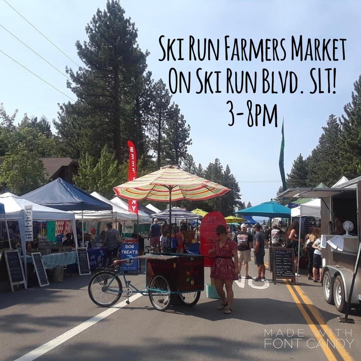 Ski Run Farmers Market-Fridays from 3-8pm