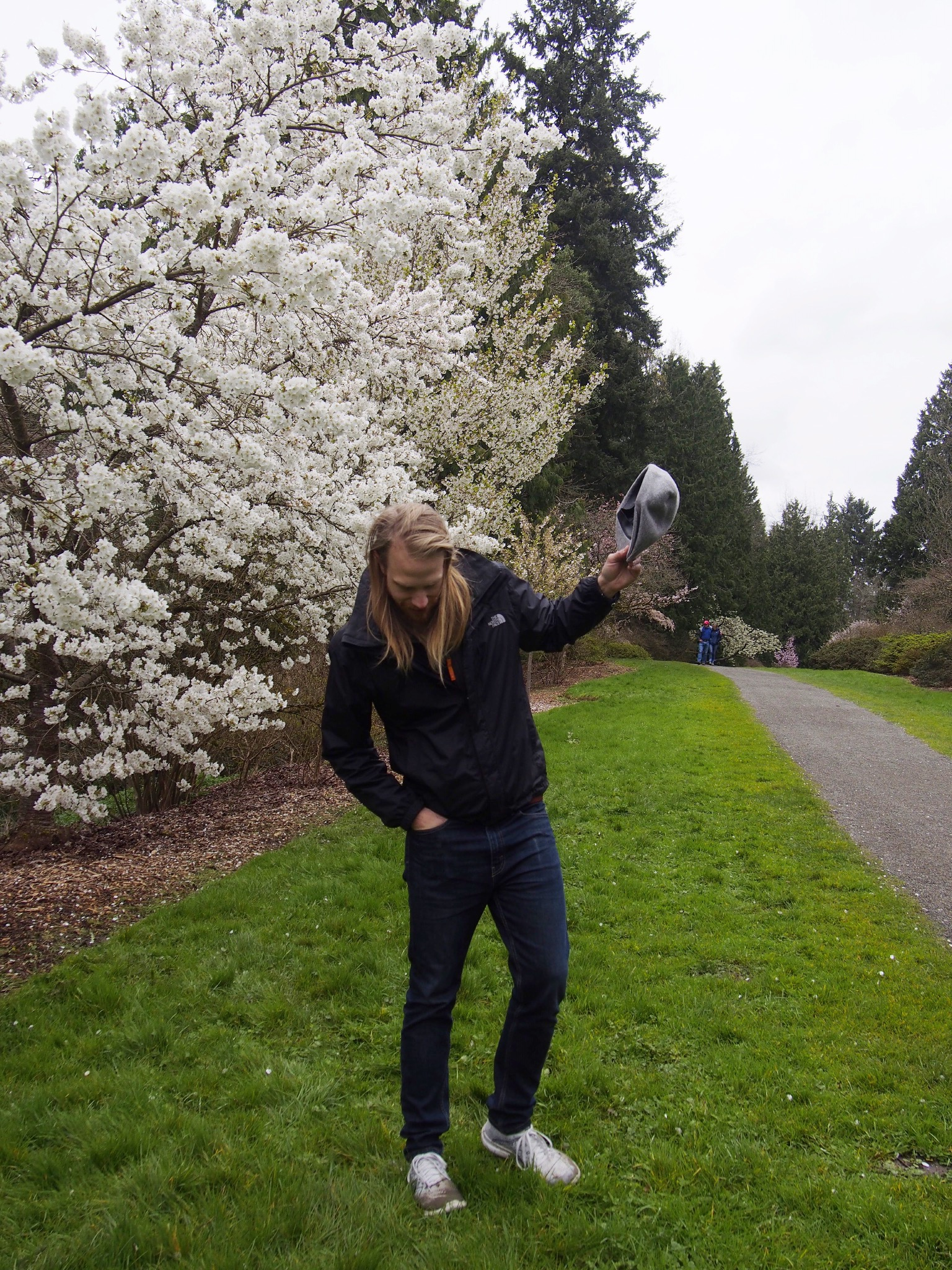 The Botanical Gardens were beautiful. Cherry blossoms for miles! I suggest wearing water-proof shoes here :)
