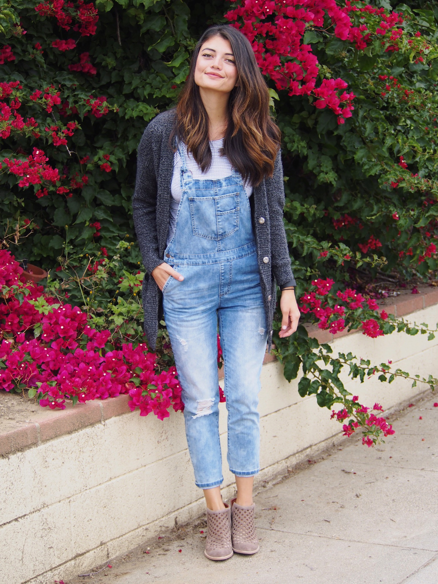 I will probably keep wearing overalls until I am an old lady :)