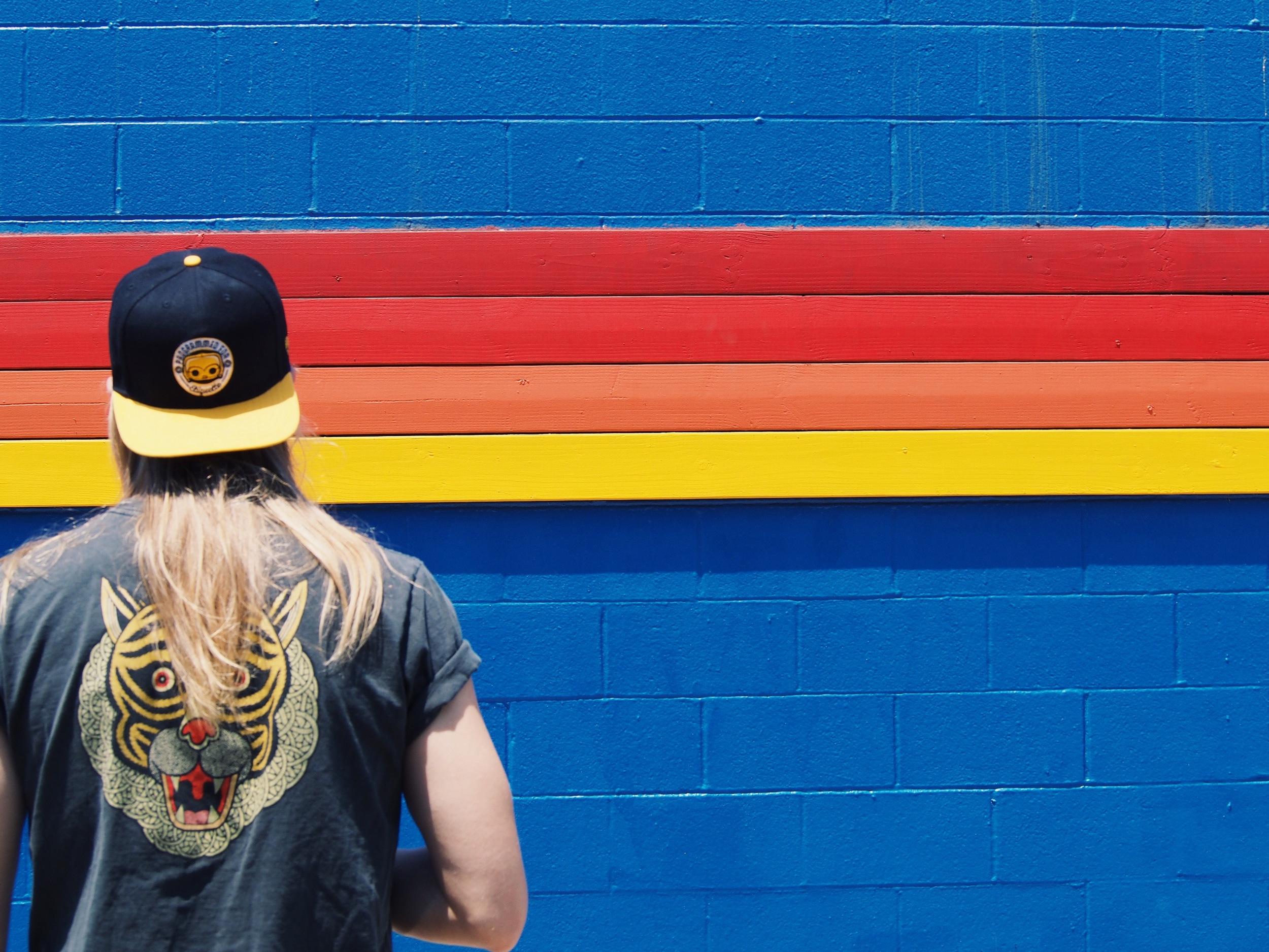 Shirt: Obey. Hat: Pop Funko.