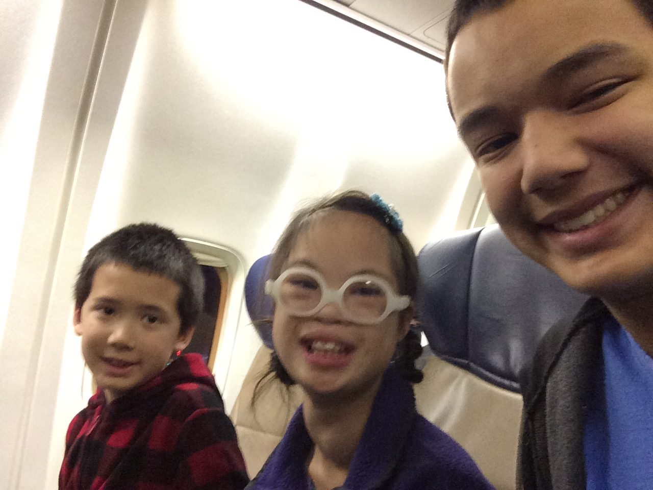 This blurry image means a lot to me: not only was it the first time that the three of them traveled alone on an airplane, this was the longest trip Anah had taken apart from us. I would never have imagined that she (or we!) could handle a trip like this. To God be the glory!