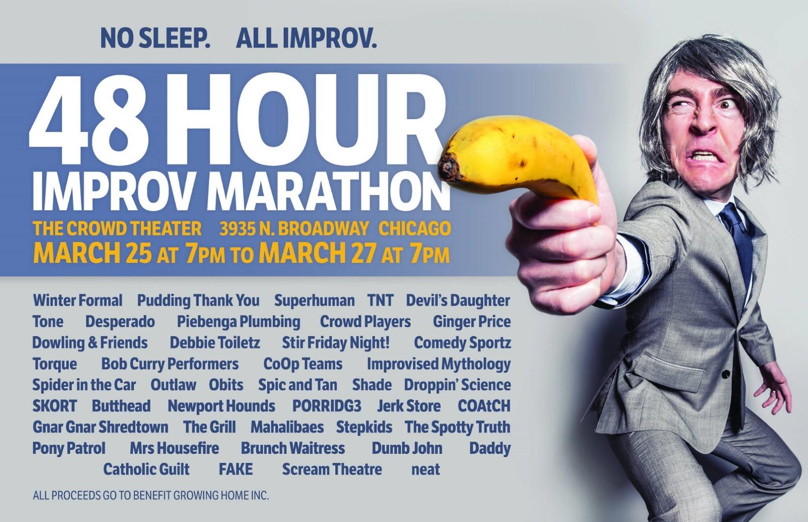 48 Hour Improv Marathon 2016 Scream Theatre Horror of Terror