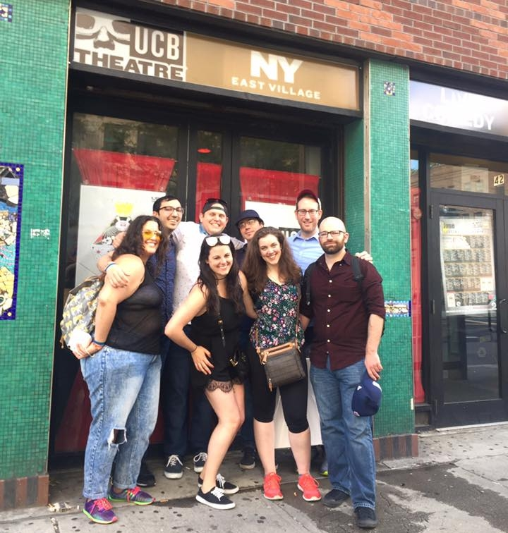 Scream Theatre post-show at NYC's UCB East Theater performing Horror of Terror, an improvised horror film