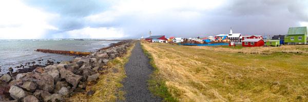 Eyrarbakki by the sea.