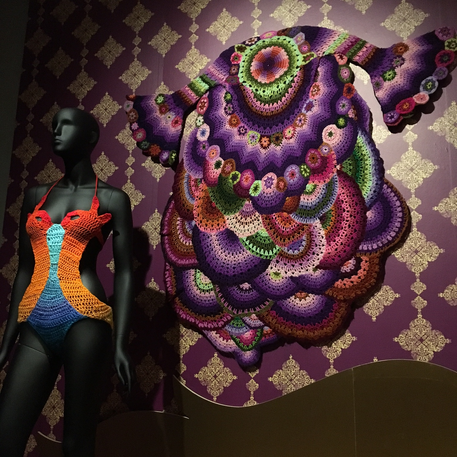 Amazing crocheted couture at the  Museum of Arts And Design .