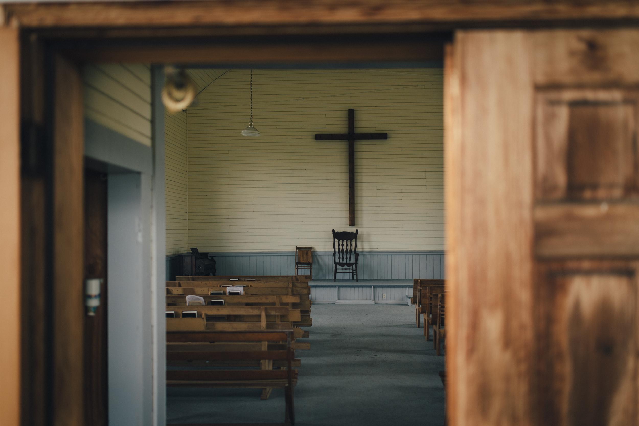 Defunct church in Fox, Oregon.