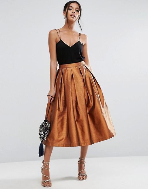 Metallic Prom Skirt