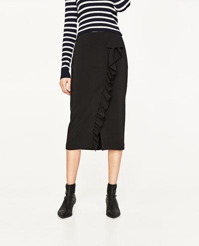 Pencil Skirt w/ Ruffles