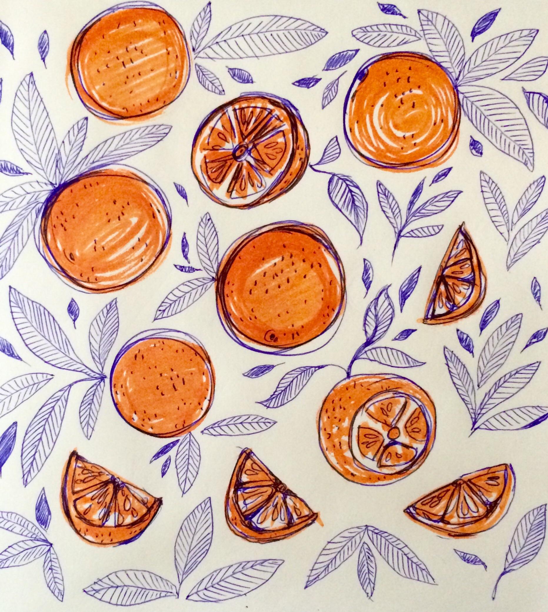 Day 25/100 orange doodle