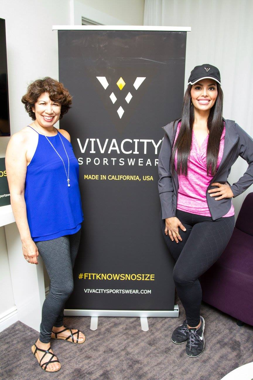 Designer Vivian and plus size model Rosie Mercado clearly loving their quilted leggings. They were both super lovely!