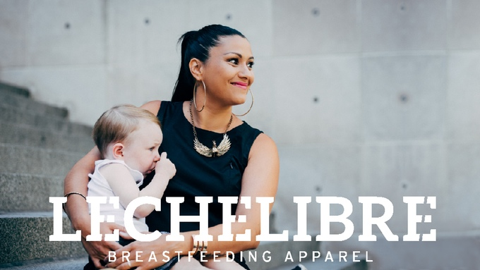 NBD, just breastfeeding in this chic LBD.