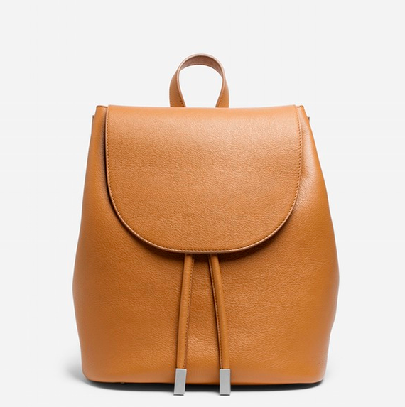 EVERLANE PETRA BACKPACK - $330; more colors available; made ethically.