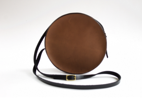 NEVA OPET:MARINA CIRCLE BAG - $150; made-to-order and sold by one artisan in the USA from oil leather