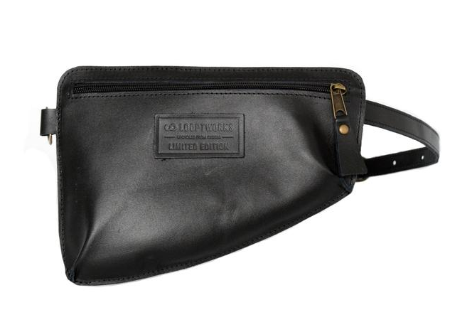 LOOPTWORKS: HIP PACK - $125; B Corp certified;made ethically in the USA from factory remnant leather. [Sidenote: I never thought I'd actually promote a fanny pack, but here we are. And yes, I would wear the hell out of this.]