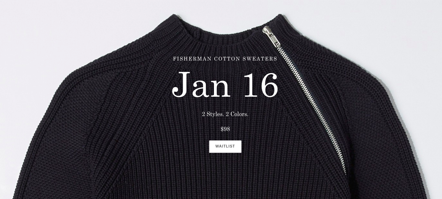 What's the waitlist looking like for plus sizes, Everlane? Gotta date for that?