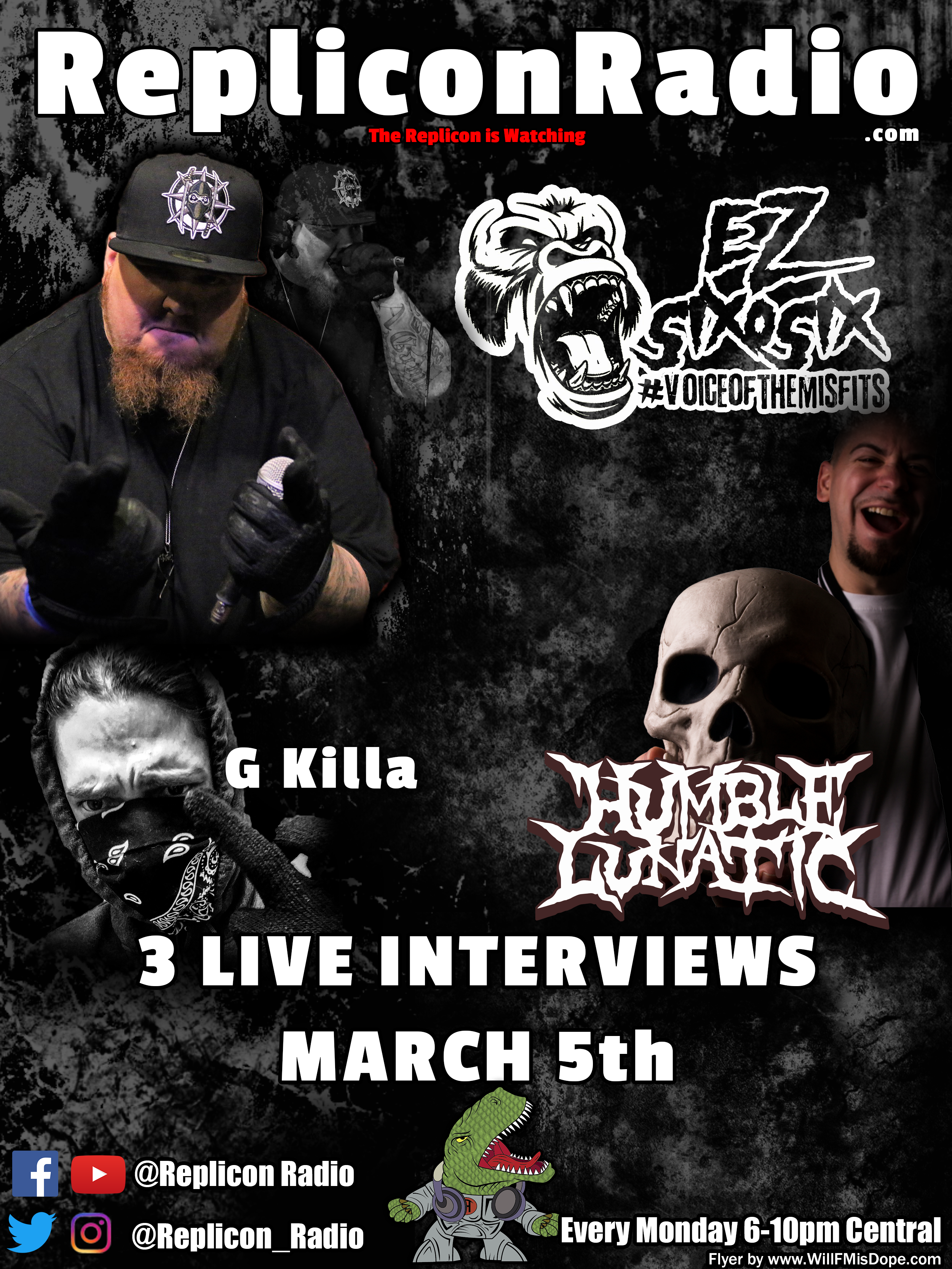 Replicon Radio is interviewing me and 2 other artists on Monday March 5th at 7:45 CST. Head over to RepliconRadio.com