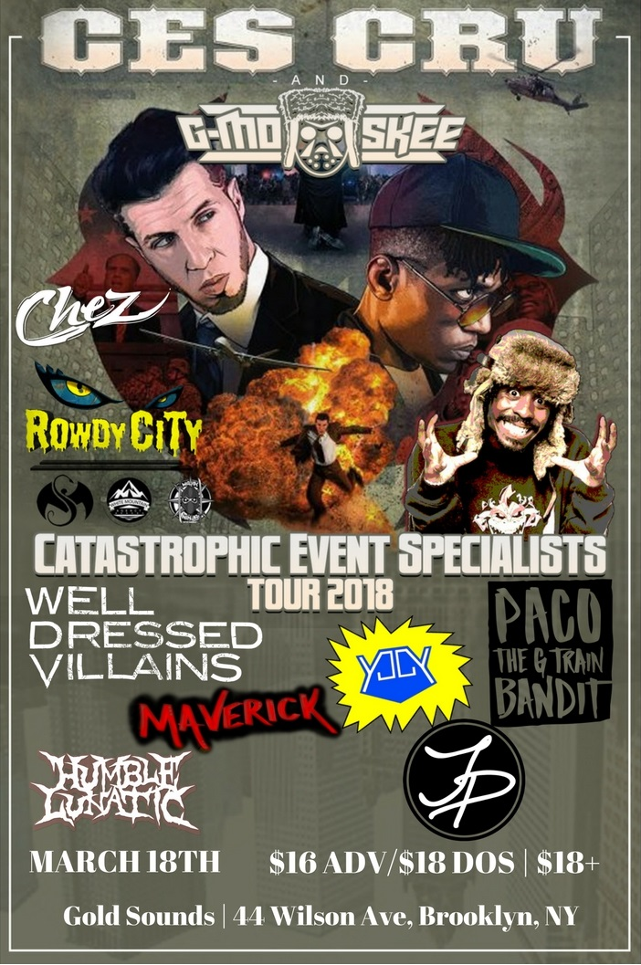 I was just added to the Catastrophic Event Specialists Tour Show in Brooklyn - Click image for tickets and details.