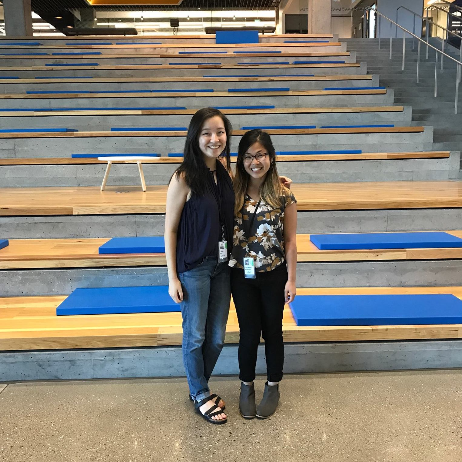 Christen  and I on our first day at Intuit.