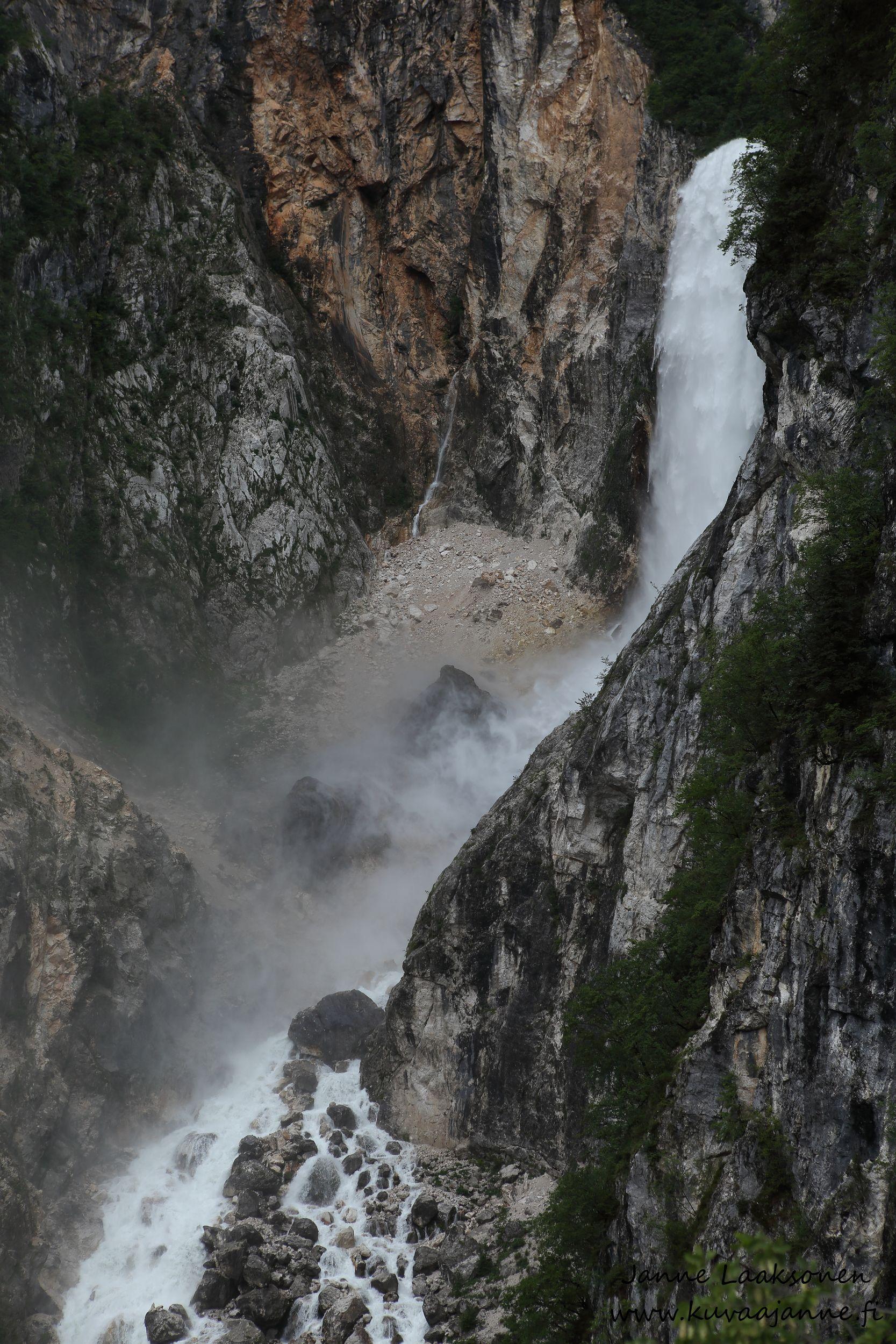 Slovenia, Bovec ja vesiputous, Boca falls, Valokuvaaja Janne Laaksonen, Riihimaki