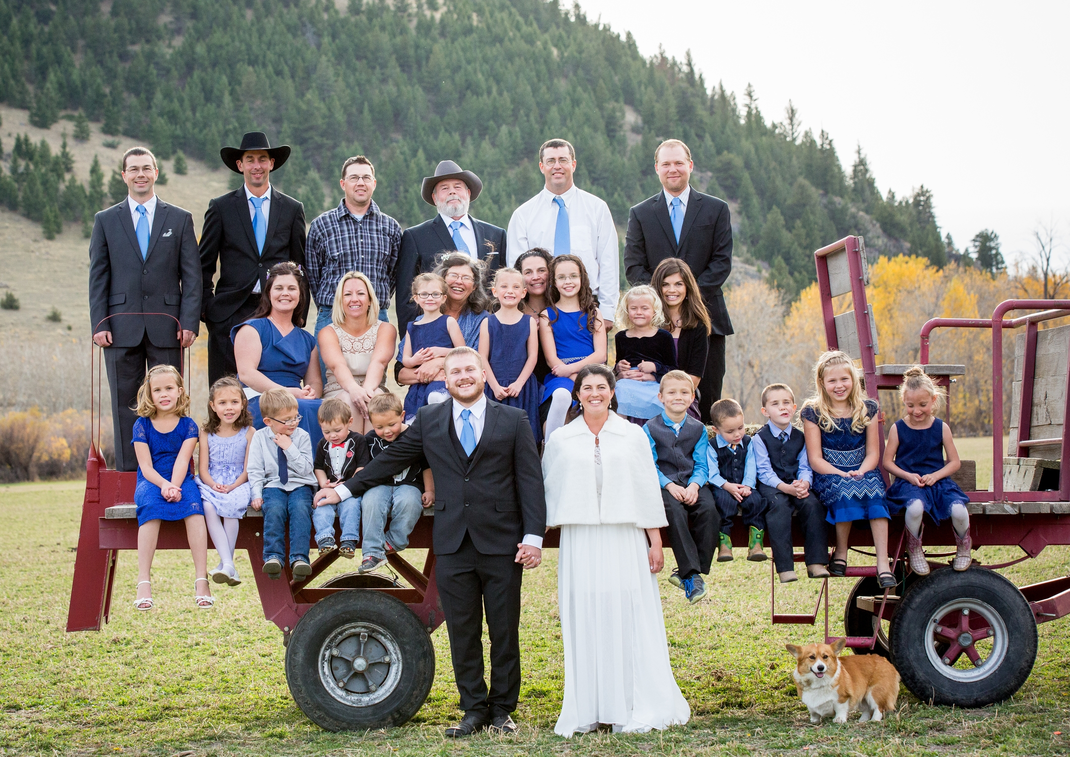 Wirth Family,2015 (Missing Joanna and little Gabriel) at Anna and Tom's Wedding, Photo by Tracey Buyce