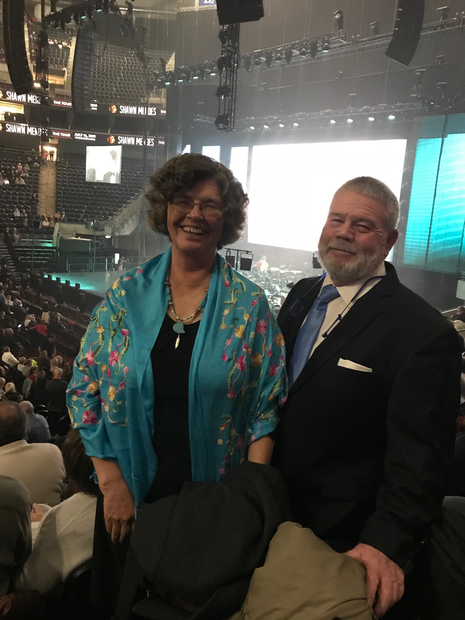 Patty and Zack at Andrea Bocelli concert in Salt Lake City