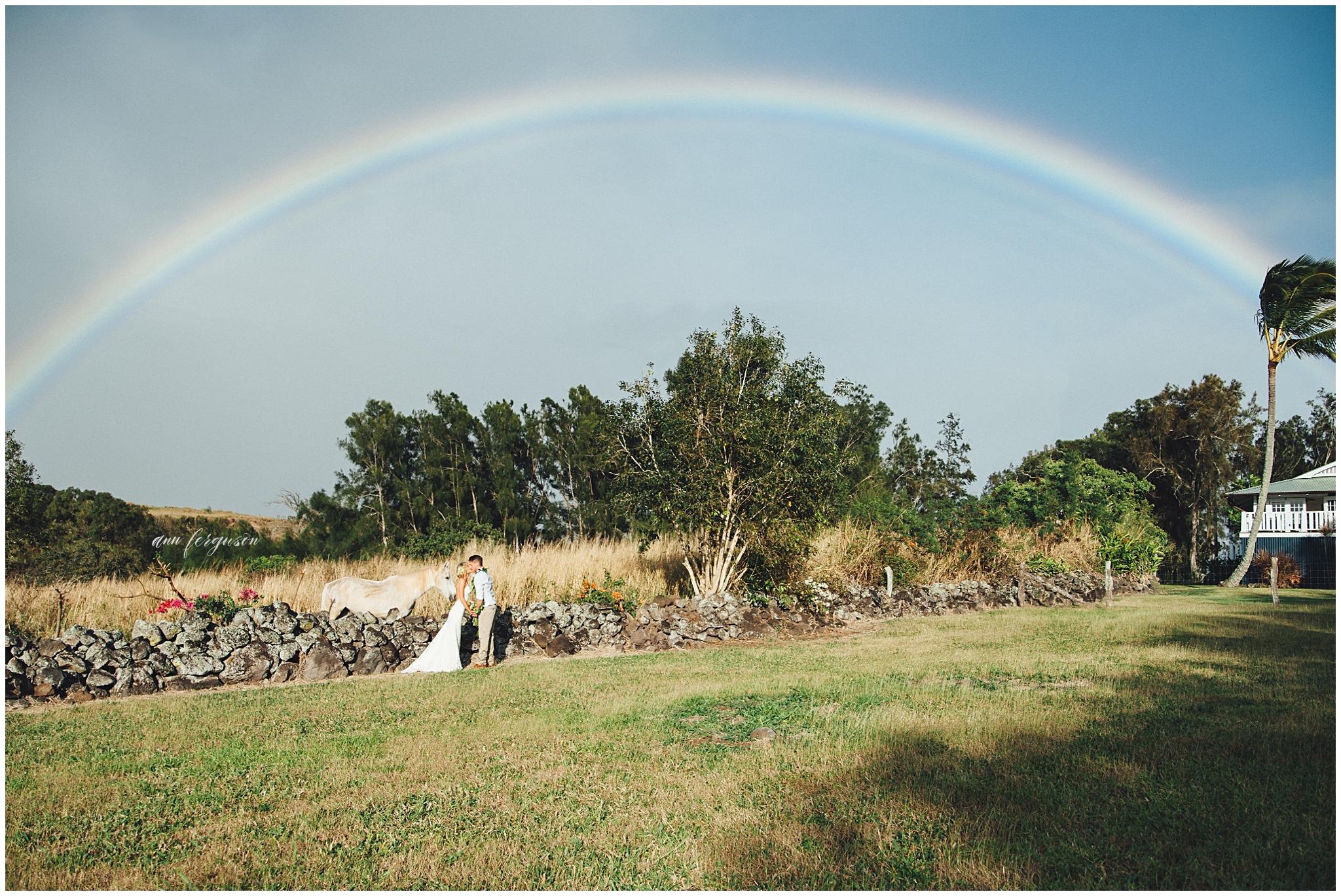 rainbows and weddings in hawaii